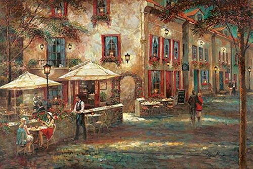 Fertig-Bild - Ruane Manning: Courtyard Cafe 60 x 90 cm -