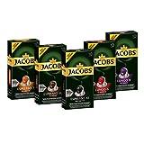 Jacobs Kapseln Vielfaltspaket, 50 Nespresso kompatible Kaffeekapseln aus Aluminium, alle 5 Sorten (5 x 10 Kapseln)