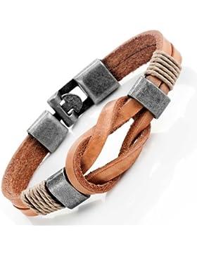 Gegerbtes Leder Seemannsknoten Armband für Sie und Ihn, Unisex, 100% Echtes Leder, 8