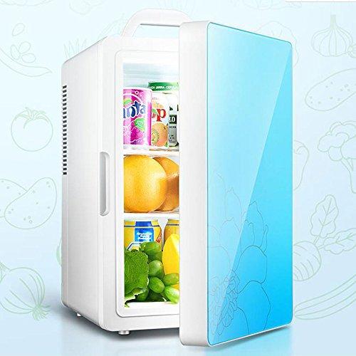 Réfrigérateur De Voiture De 16L Double Usage De Voiture Et De Maison Mini Refroidissement Et Chauffage Silencieux De 12 / 220V économie D'énergie,Blue-Single-Core