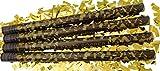 GW Handels UG 4er Set Konfettikanonen XL 80 cm Party-Popper Konfetti-Shooter Gold metallic Partykanonen Konfettibombe Hochzeit Geburtstag Silvester