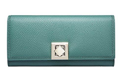 Leinwand Tri-fold Wallet (Xinmaoyuan Damen Geldbörsen Sommer Lady Hände Tasche lange Lady Fashion Wallet Geldbeutel, Grün)