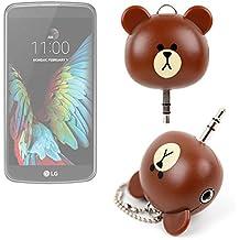 Divisor de auriculares con forma de osito para smartphone LG G350 , G5 , K10 , K3 , K4 , K5 , K7 3G , K7 LTE , K8 V , K8 , Optimus Zone 3 , P780 - DURAGADGET