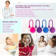 Kegel Weight Exercise System:Bladder Control Devices for Woman, Beginner to Advance-Helps Strengthen Pelvic Floor Muscles and Resolves Incontinence & Bladder Control