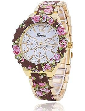 SSITG Damenuhr Blumen Uhr ARMBAND Damen Quarz Armbanduhr Geschenk Gift Watch