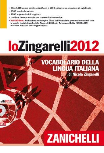 *LO ZINGARELLI 2012 Vocabolario della ligua italiana Cofanetto con volume