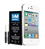 MMOBIEL Battery Compatible with iPhone 4S Li-Ion Replacement Battery 3.7V 1430mAh 5.3Wh incl