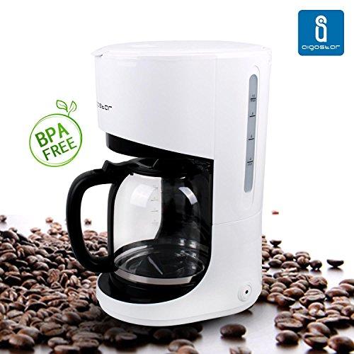 Aigostar Milk 30HMB, macchina del caffè americano da 900 W e 1,5 litri con filtro riutilizzabile