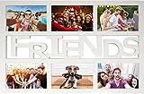 Empireposter - Collage Bilderrahmen Friends - Kunststoff weiss Multishot - Größe (cm), ca. 48x33 - Wechselrahmen Rahmen-