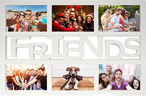 empireposter-collage-bilderrahmen-friends-kunststoff-weiss-multishot-gre-cm-ca-48x33-wechselrahmen-r