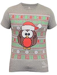 Hommes Noël T Shirt Soul Star Sapin De Noël Renne Rudolf Robin Imprimé Flocon De Neige