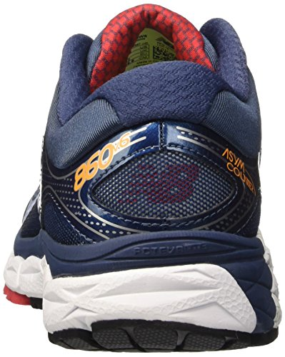 New Balance W860v6, Chaussures de Running Entrainement Homme Multicolore (Blue/White/Orange)