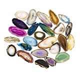 Set von 25Multi farbigen Achat Scheiben Beverly Eichen Exklusiv mit Echtheitszertifikat