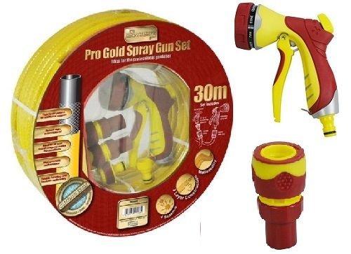 Preisvergleich Produktbild Generic uk150609–58 < 1 & 3456 * 1 > ittingspray Gun SE-Set Premium Pro Gold 30 m PROFI gelb Garten Schlauch Spritzpistole Armaturen Pro Gold 30