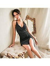LLYDIAN Sexy Lingerie Passione Vestito Sexy Aperto File Seno Latte  Prospettiva Discoteca Uniforme Pigiama Gonna a 1117ae88634