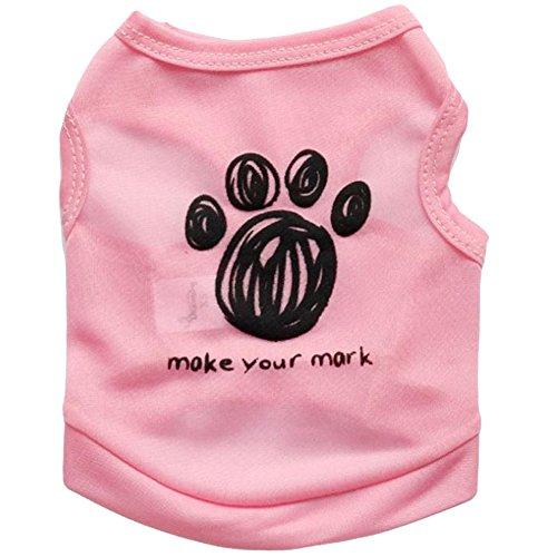 Lopetve Hundbekleidung Hunde Kleider Haustier Kostüm Bekleidung Haustier Welpen Sommer Hemd Kleiner Hund-Katze-Haustier-Kleidung Weste-T-Shirt Rosa (Anzug Billig Kostüm Tragen)