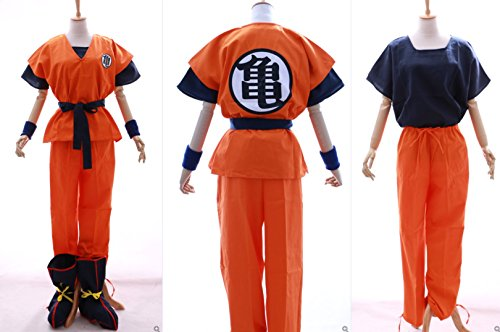 S-01 Dragonball Z Son Goku Kame Trainingsanzug Cosplay 6-teilig Kostüm costume (Gr. L) (Dragon Ball Z T Shirt Kostüme)