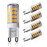 Lampaous G9 5W LED Lampe, ersetzt 40W Halogenlampen, 350lm Warmweiß, 2700K, 360° Abstrahlwinkel, LED Bin-Pin Sockel LED Birnen für Deckenleuchten, Kronleuchter, Innenbeleuchtungen 4er Pack