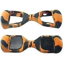 Funda de protección de silicona para monopatín eléctrico de 6,5 pulgadas, naranja/negro