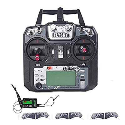 FS-i6X Transmitter 10CH 2.4GHz AFHDS 2A RC Transmitter TX Drone Transmitter with iA6B Receiver Supply by Flysky