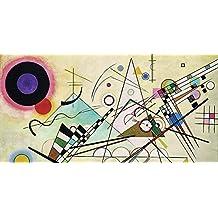Cuadro sobre lienzo con bastidor Wassily Kandinsky Composition VIII (Detail)