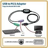 Tripp Lite USB vers 2x PS/2Adaptateur pour clavier et souris (B015-000)