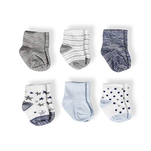 Aden & Anais - Calcetines de algodón peinado para bebé, diseño de estrellas, 6 unidades 1