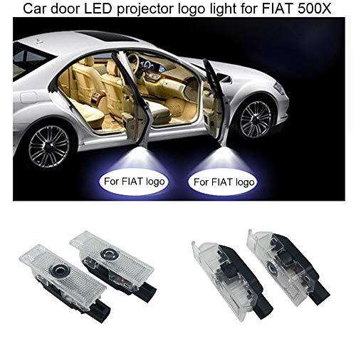 2 luces LED de cortesía para puerta de coche con logo de fantasma para 500X