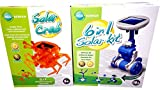 EDU Toys 6in1 Solar Modelle und Solar Krebs Bausatz Paket 2in1 Experimente