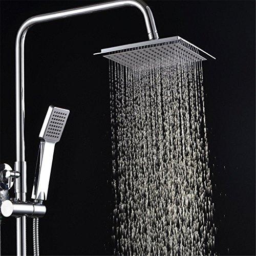 NewBorn Faucet Wasserhähne Warmes und Kaltes Wasser große Qualität Dusche Wasser Kit voll Kupfer Quad Slim Dusche Kombination Boost Lift Duschkopf Handbrause Tippen Slim Quad