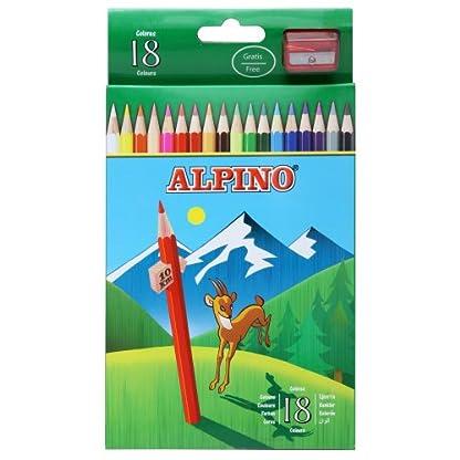Alpino AL000656 – Estuche de 18 lápices, colores surtidos