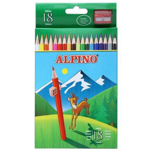 Alpino AL000656 – Estuche 18 Lápices De Colores