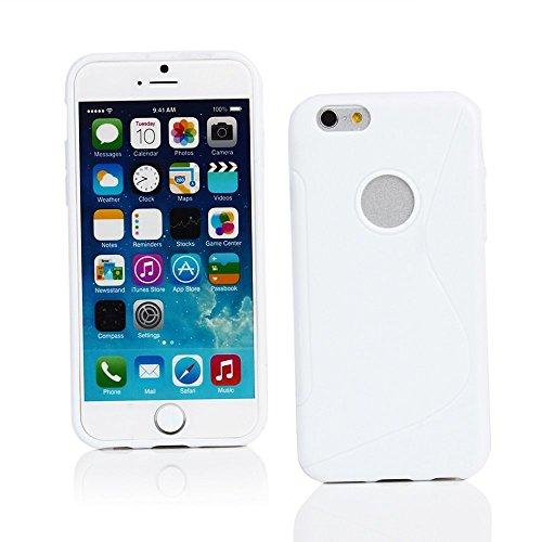 Housse Etui Skin S Line Wave Soft coque arrière en gel TPU pour Apple iPhone 5S Blanc