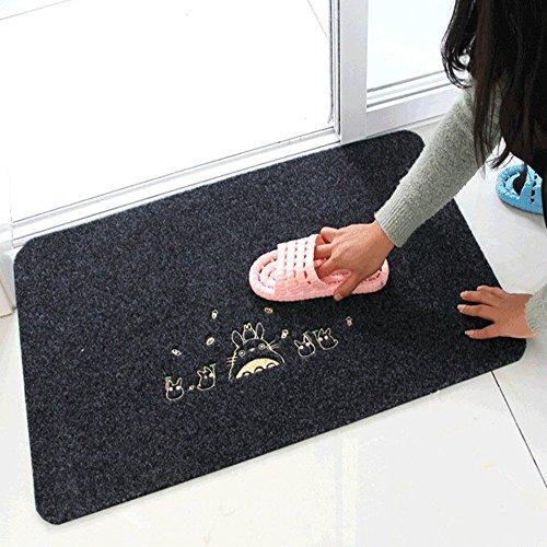 Fußmatte, Homecube Fußabtreter Abtreter Schmutzmatte Schmutzfangmatten mit Motiv rutschfest & waschbar 40cm x 60cm