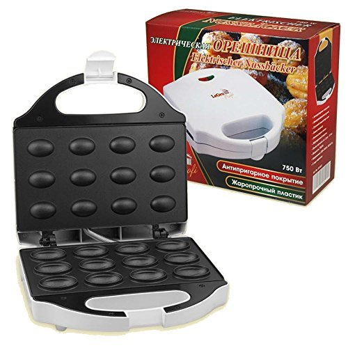 Macchina per cuocere waffel forma di noce da 12 stampi