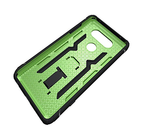 YHUISEN LG V20 Case, Cool Shockproof Rüstung Hybrid 2 In1 TPU und PC Robuste Dual Layer mit Kickstand Case für LG V20 ( Color : Black ) Green