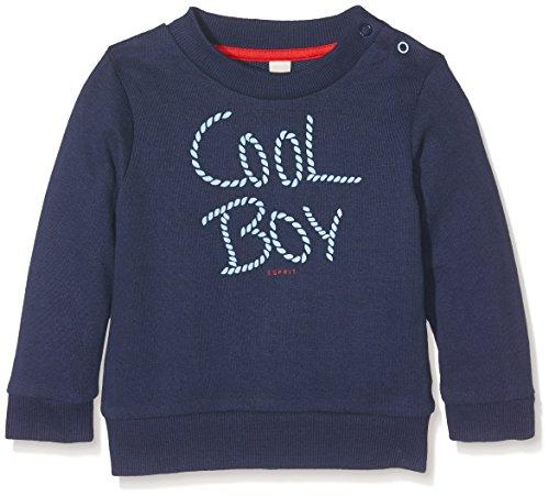 Esprit Kids Baby-Jungen Sweatshirt Sweat Shirt, Blau (Navy 490), 80 (80)