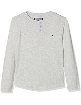 Tommy Hilfiger Slubby Henley L/S, Camisa Manga Larga para Niños