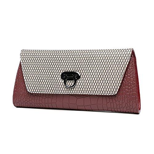 Handtasche, Kettenpaket, Europa und die United States Handtasche, Abendtasche, große Kapazität Europa und die Vereinigten Staaten Hand Tasche ( Farbe : Grau ) Rot