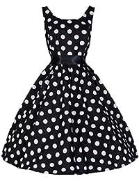 Pretty Kitty Schwarz Weiß Big Dot Audrey Swing-Kleid