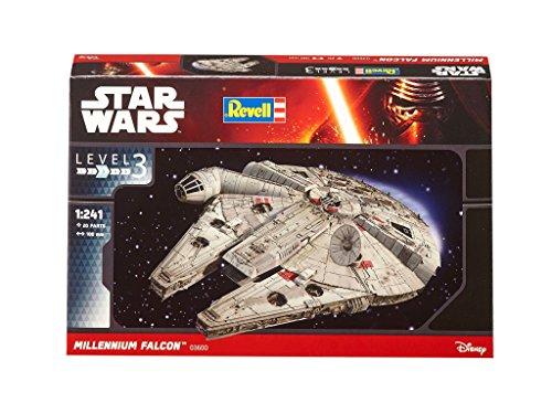 Revell Modellbausatz Star Wars Millennium Falcon im Maßstab 1:241, Level 3, originalgetreue Nachbildung mit vielen Details, einfaches Kleben und Bemalen, 03600