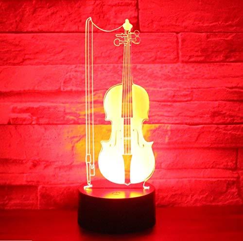 llo Violoncello Musik Mit 7 Farben Licht Für Hauptdekoration Lampe Erstaunliche Visualisierung Optische Täuschung ()