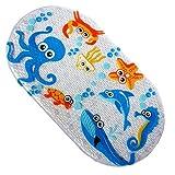 Safety Kids Cartoon Non Slip Suction PVC Massage Shower Little Cuties Anti Slip Bath Mat for Bathtub, Bathroom and Baby, Cute, Skid Proof, 70 X 38 cm (Octopus)