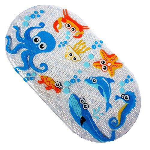 , Badteppich für Baby, Cartoon PVC Badewanne Matte mit Saugnäpfen für Kinder, 71x 38cm, Octopus, 69x 38CM (Sie Sicher, Saug-wanne Dass)
