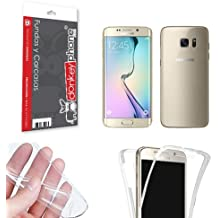 Producto Original Donkeyphone® - FUNDA 360 DOBLE DELANTERA + TRASERA GEL TRANSPARENTE PARA SAMSUNG GALAXY S6 EDGE G925F SILICONA COMPLETA ULTRA THIN - ULTRA FINA 0,33 mm