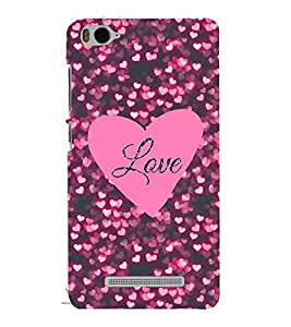 printtech Love Heart pattern Back Case Cover for Xiaomi Redmi MI 4C / Xiaomi Mi 4C