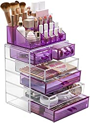 Sorbus Acrylic Cosmetic Makeup and Jewelry Storage Case Display - Spacious Design - Great for Bathroom, Dresse