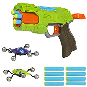X-Shot - Pistola con 8 dardos y 2 insectos (Colorbaby 44200)