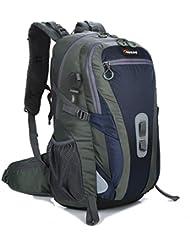 Wasserdichter Rucksack 50-60L,Nylon mit Regenschutzhülle TREKOO Großer Freizeit Trekkingrucksack Reisen für Zum Wandern,Bergsteigen,Sport und Camping.