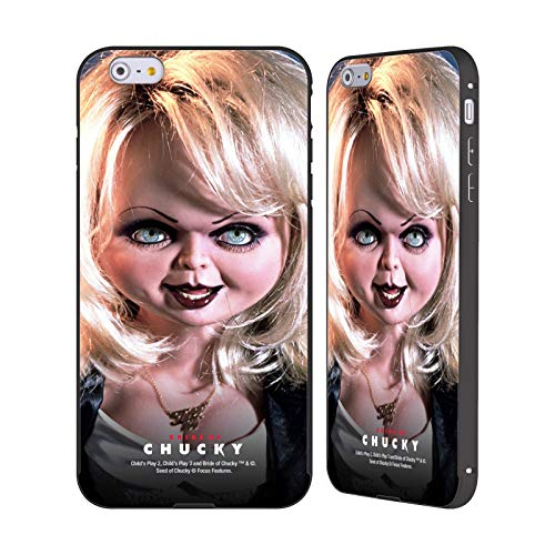 Head Case Designs Offizielle Bride of Chucky Tiffany Puppe Schluessel Kunst Schwarze Aluminium Bumper Slider Huelle kompatibel mit iPhone 6 Plus/iPhone 6s Plus